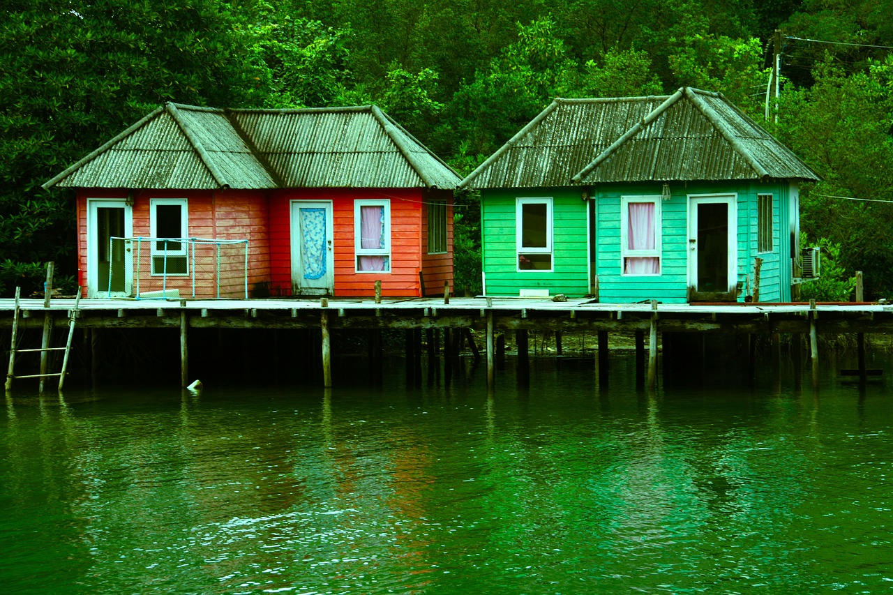 sheds, houses, stilts