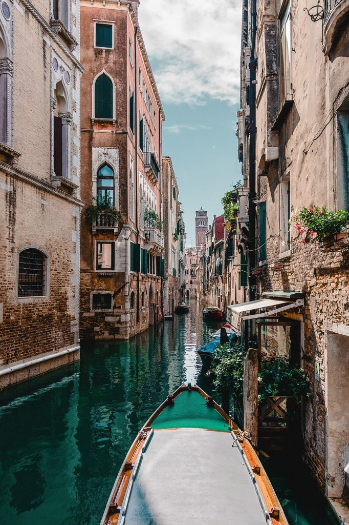 venice, gondola, water